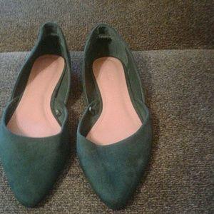 Dark Green Forever 21 Flats